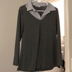 Tops - Collared long-sleeve shirt